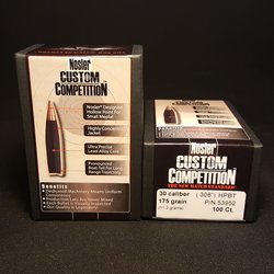 NEW NOSLER Custom Competition .308 Cal 175gr HPBT 100 ct. Box