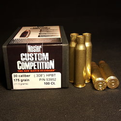 .308 NATO + NEW NOSLER .308 Cal 175 GR Hollow Point Boat Tail Projectiles 100+