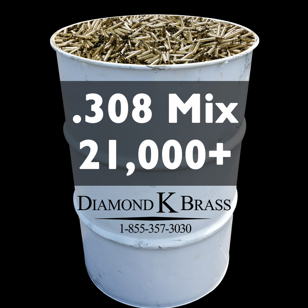 .308 MIX (7.62x51mm) 55 Gal. 21,000+