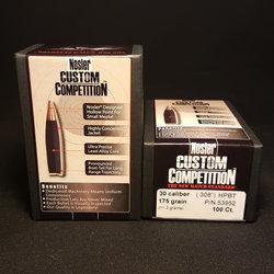 NOSLER Custom Competition .308 Cal 175gr HPBT 100 ct. Box