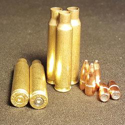 .223 REM Commercial + 55gr FMJ Projectile COMBO 500+