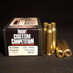 .308 WIN PROCESSED + NEW NOSLER .308 Cal 175 GR Hollow Point Boat Tail Projectiles 100+